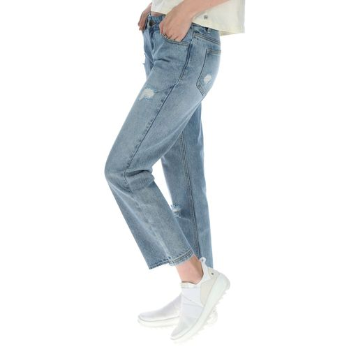 Jeans Mujer Distressed Ankle Cuf